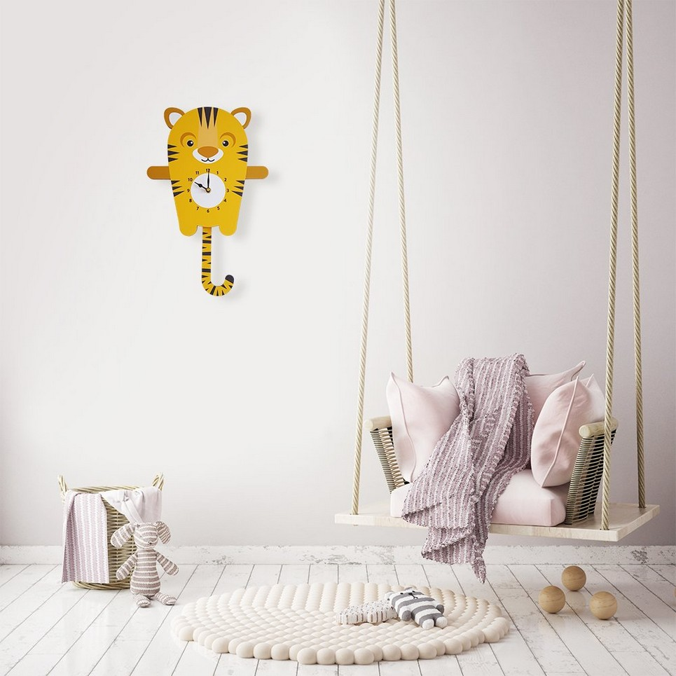 Tilly The Tiger Pendulum Wall Clock