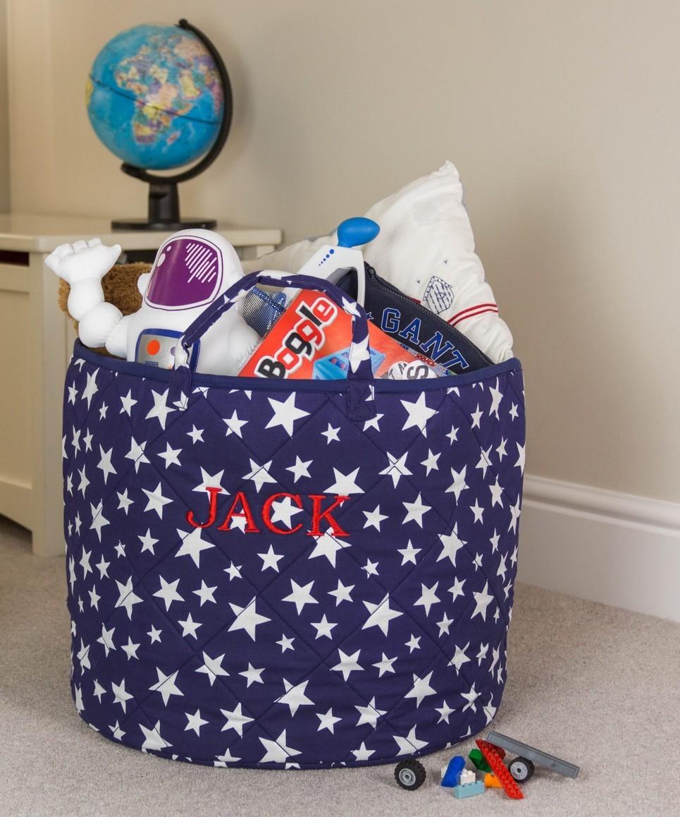 Blue Star Toy Storage Basket