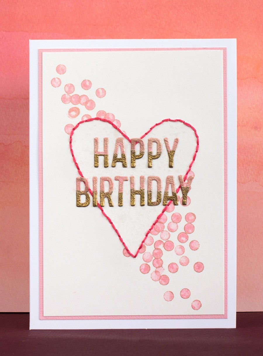 If you have somebody with a spring birthday, why not make a cute card to greet the person?