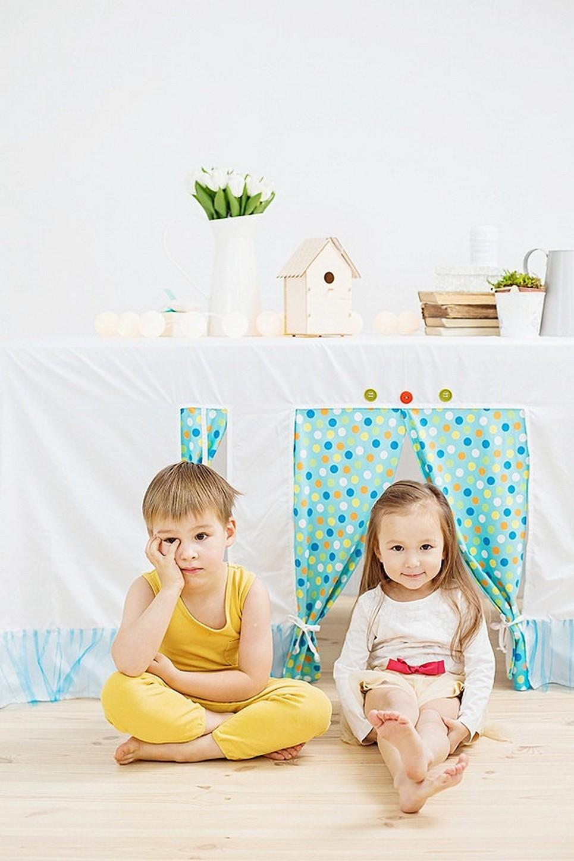 Polka Dots Tablecloth Playhouse – 1
