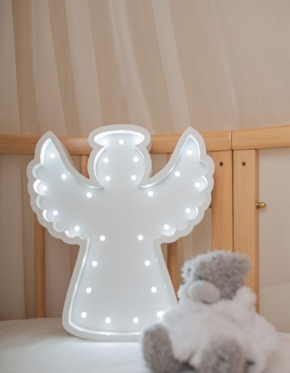 Perfect for setting a calm moon in your kid's bedroom, the Angel Decorative Night Light gives a soft glow when turned on.