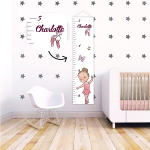 A perfect way to keep track of your little one's growth, the Ballerina Personalised Baby Growth Chart will brighten up any child's bedroom as well as provide a fun way to measure height.