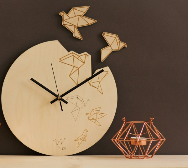 Bird Wooden Wall Clock