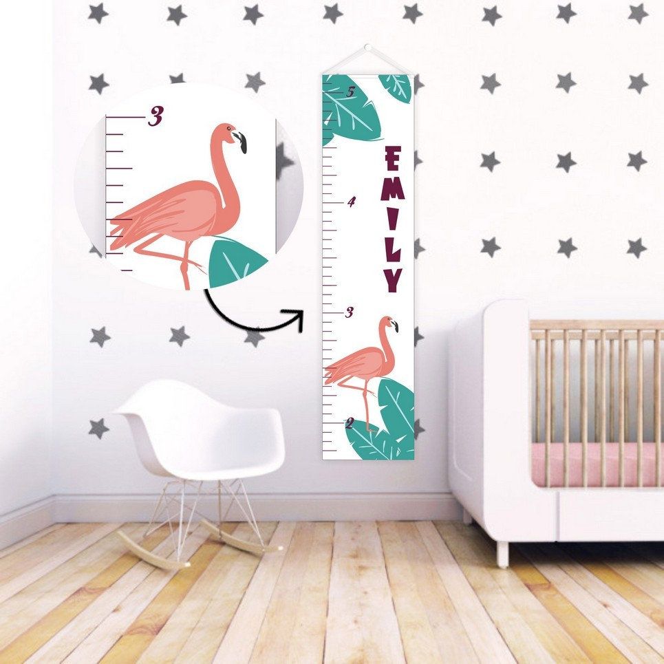 Tropical Dream Personalised Baby Growth Chart