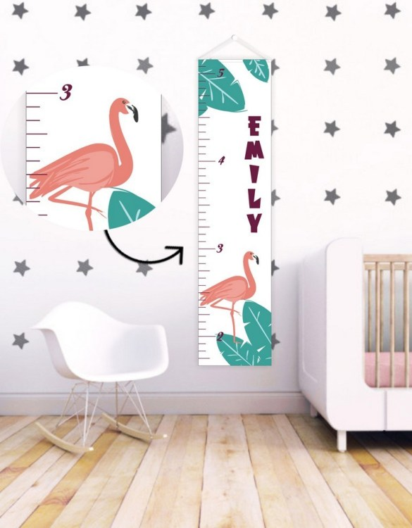 A perfect way to keep track of your little one's growth, the Tropical Dream Personalised Baby Growth Chart will brighten up any child's bedroom as well as provide a fun way to measure height.