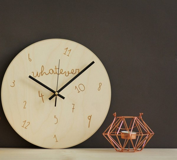 Whatever I'm Late – Wooden Wall Clock