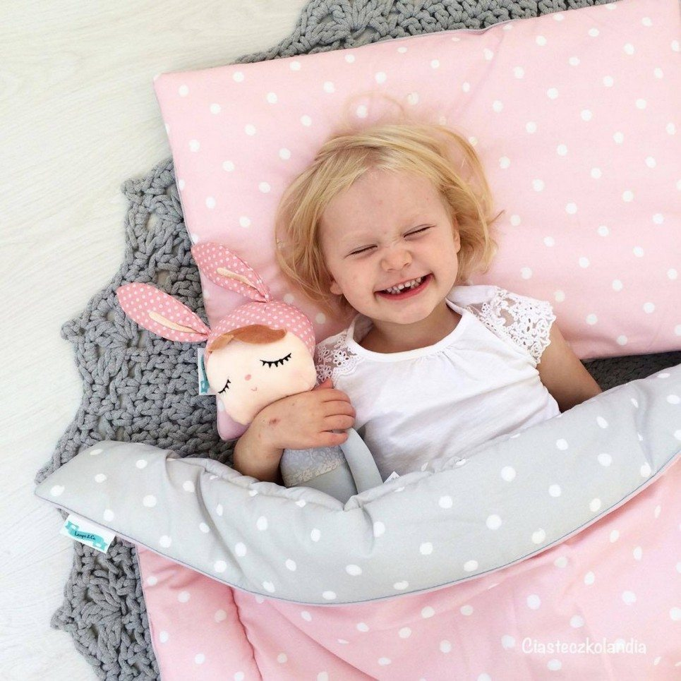 Lovely Dots Pink & Grey Children's Bedding Set