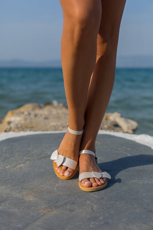 Aphrodite Bow Tie Greek Leather Sandal
