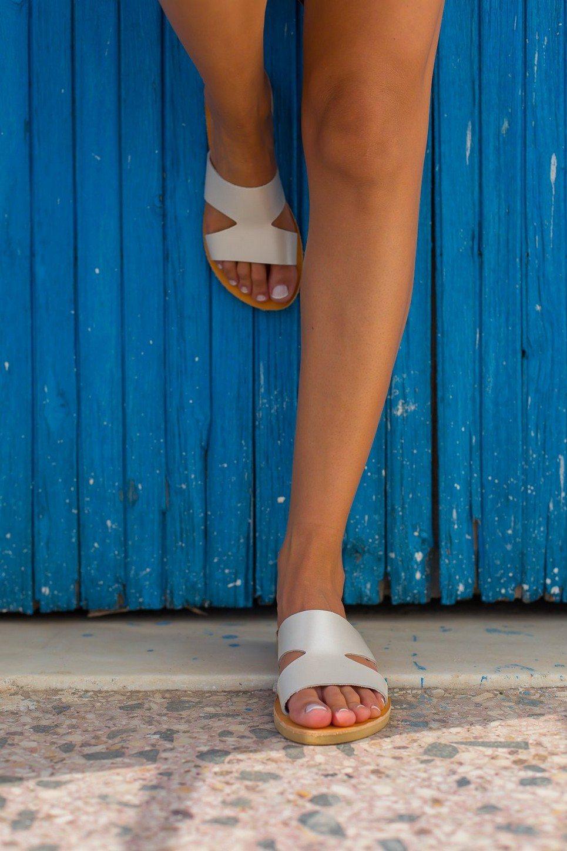 Pythia Greek Leather Sandal – 2