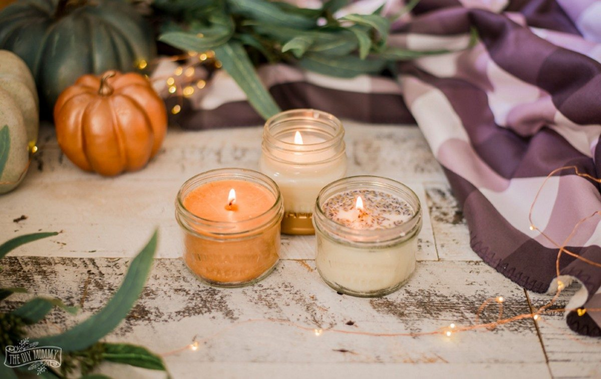 Candles always improve home decor and help create an amazing cozy atmosphere at home. DIY candles and candleholders can take it a step further.
