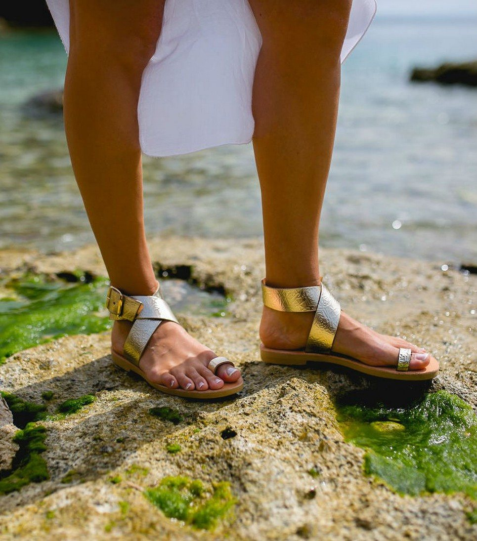Dione Gold Greek Leather Sandal – 4