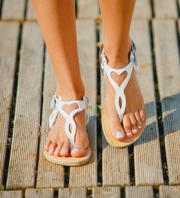 Eros White Greek Leather Sandal – 3
