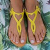 Just what every summer wardrobe needs, the Eros Yellow Greek Leather Sandal is every woman's dream pair, super comfy and elegant, and easily combined with any outfit.