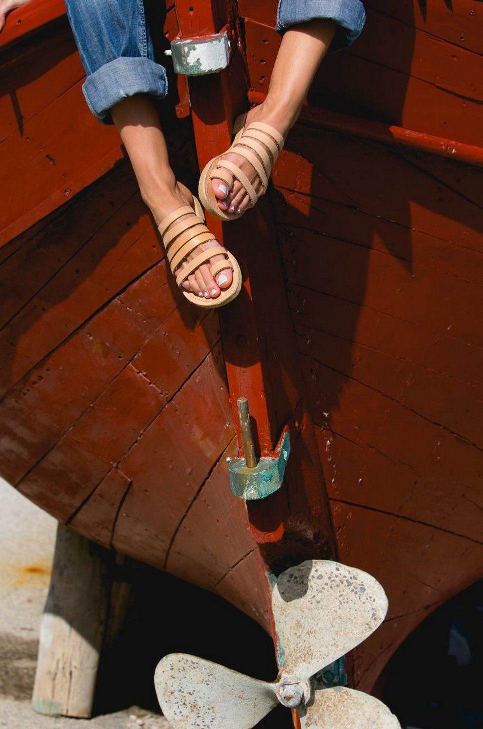 Iris Greek Leather Sandal – 1
