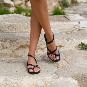 Just what every summer wardrobe needs, the Kleio Braid Greek Leather Sandal is every woman's dream pair, super comfy and elegant, and easily combined with any outfit.