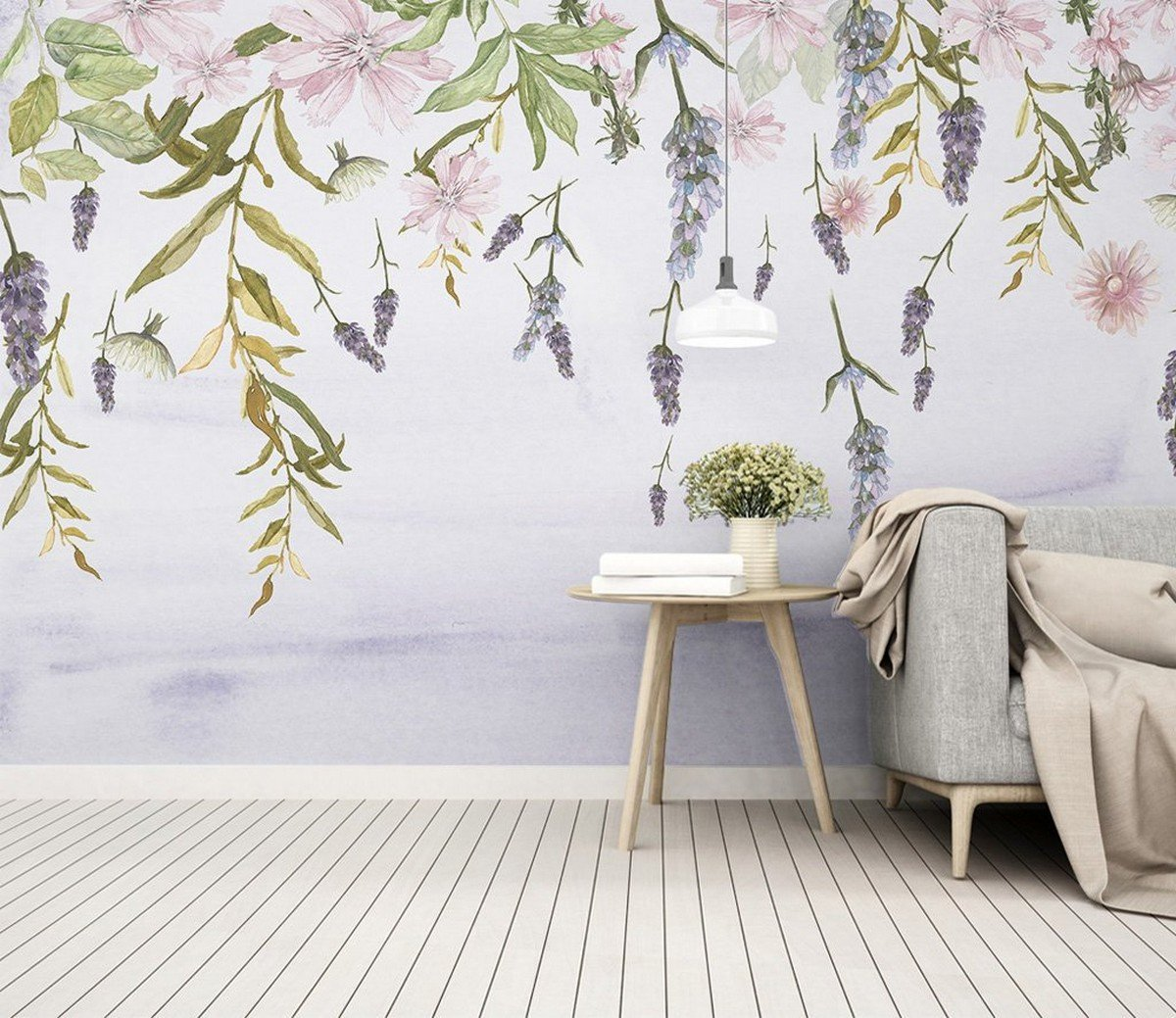 Petals, sunshine, and a bit of natural lighting sounds like a great way to rework the home, don't you think? And with these floral wallpapers we'll have your inspiration for springtime decor ignited and your wheels turning for some weekend DIYs.