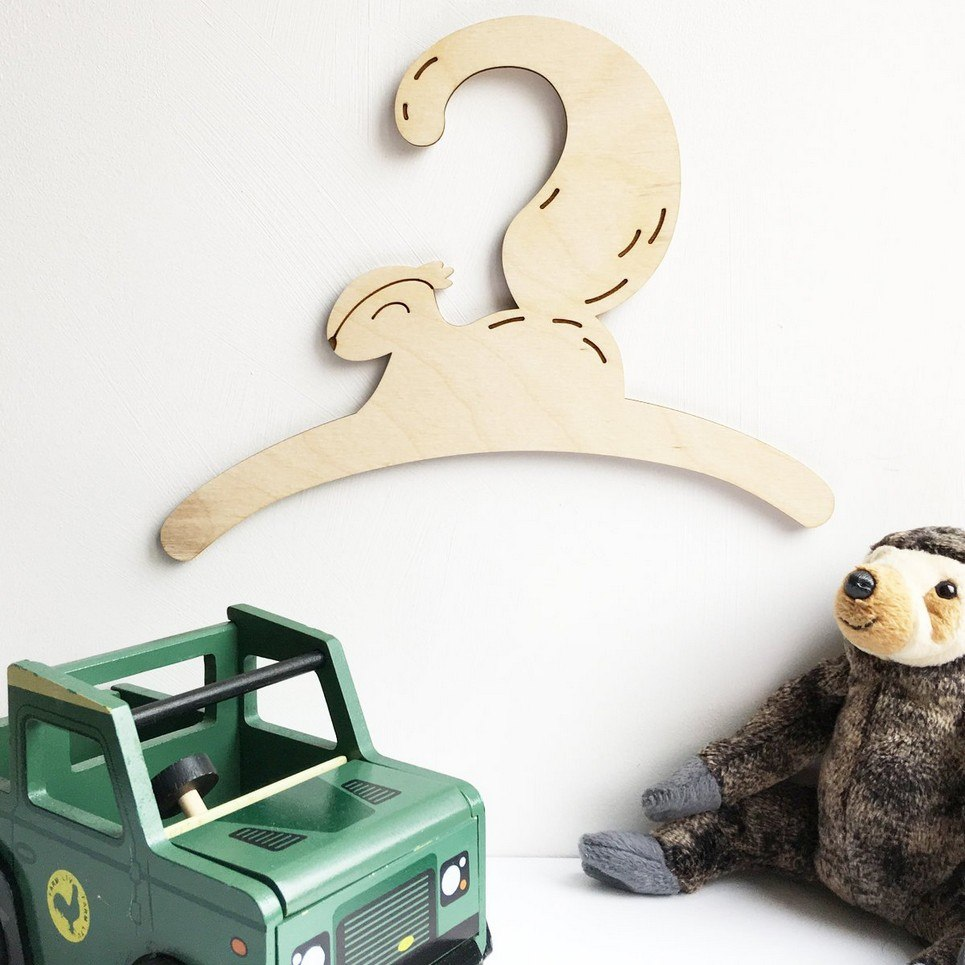 Little Squirrel Baby Coat Hanger