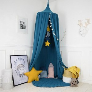A super cosy retreat, the Baldachin Petrol Turquoise Children's Bed Canopy create a fun fairytale-like environment in your child's bedroom.