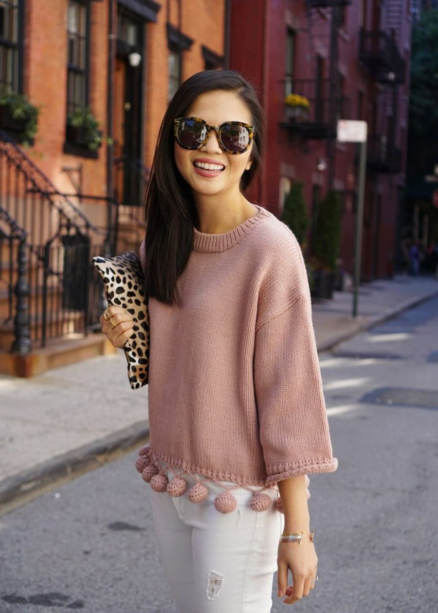 The return of sweater weather has us all plotting new ways to stay toasty (and chic) when the conditions outside are downright frightful. But have no fear — pom-pom sweaters are here.