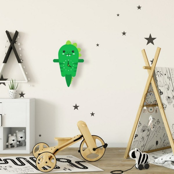 Douglas The Dinosaur Pendulum Wall Clock