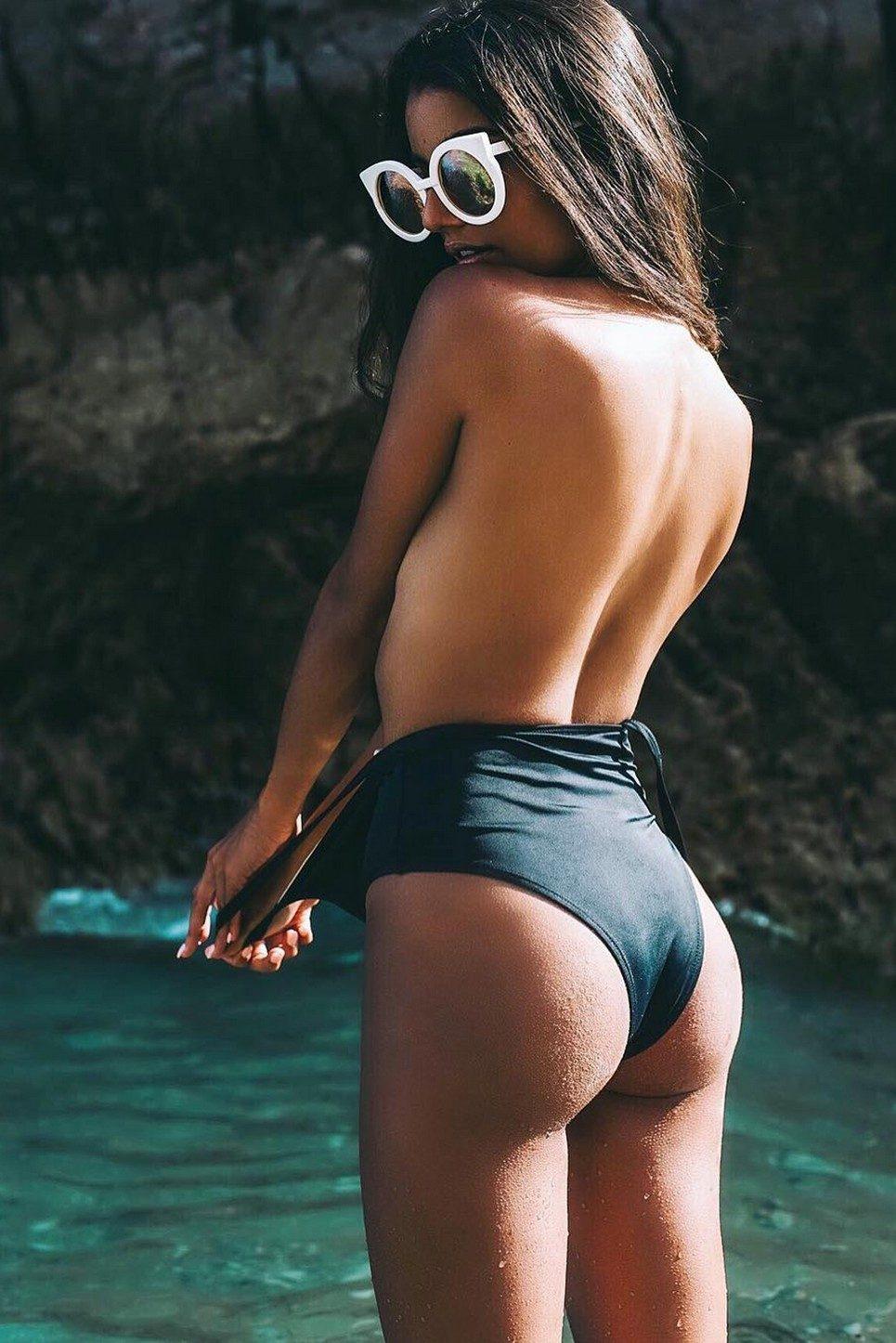 Black Pine One-Piece Swimsuit