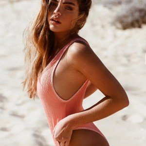 Express yourself differently each day in reversible styles with the Pretty One-Piece Swimsuit. Channeling all 90s vibes with this high thigh, plunging back one piece. Take the plunge in our sexy and chic ribbed Pretty One Piece.