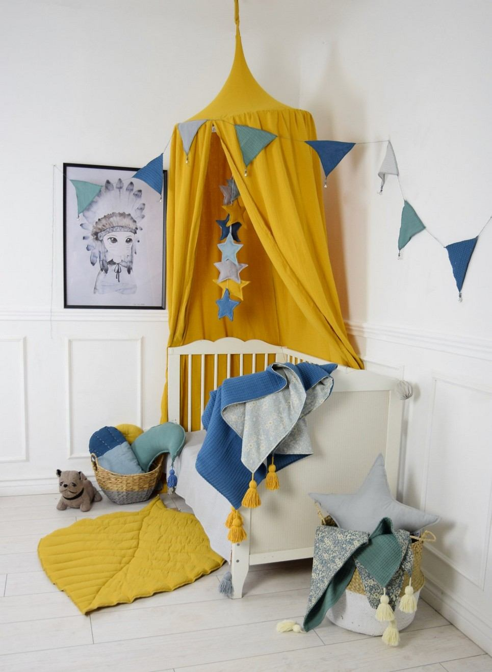 Baldachin Ochre Children's Bed Canopy