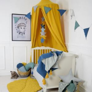 A super cosy retreat, the Baldachin Ochre Children's Bed Canopy create a fun fairytale-like environment in your child's bedroom.