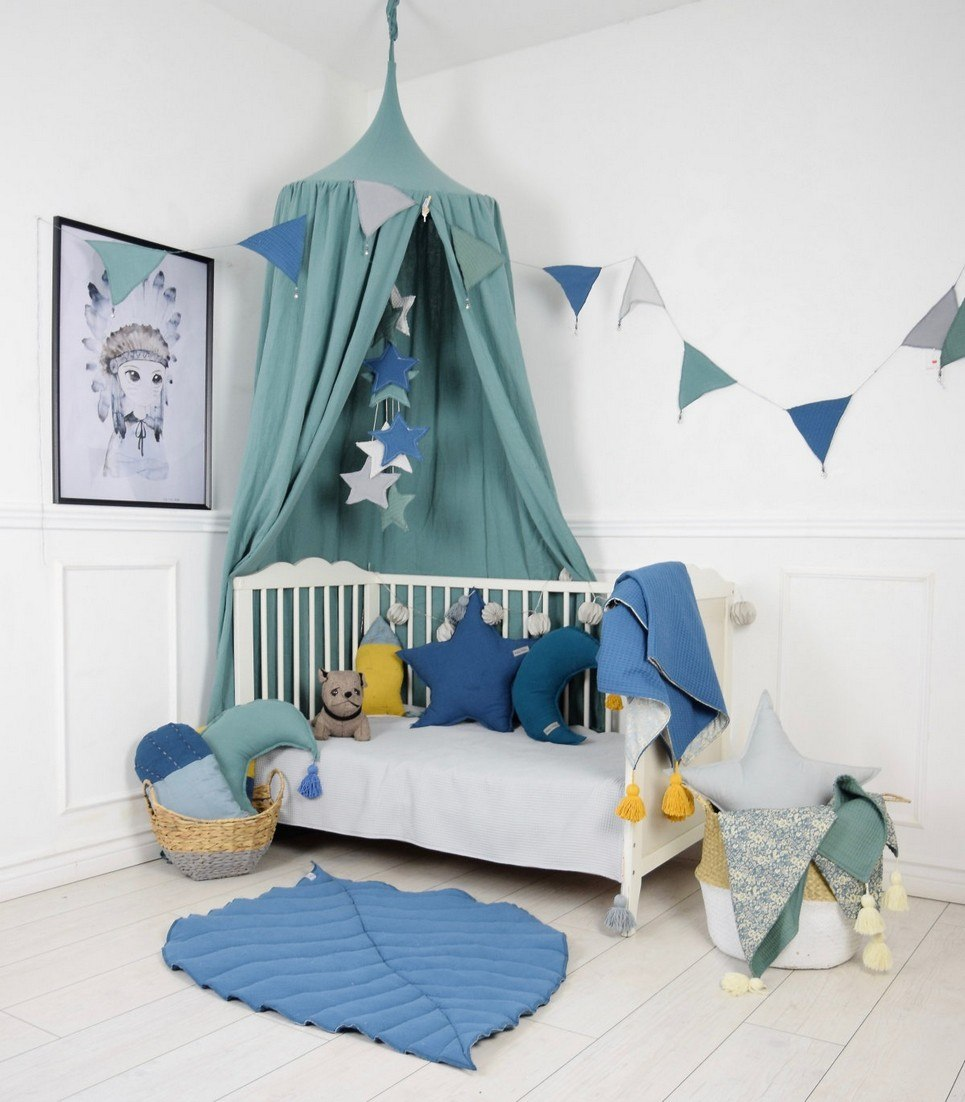 Baldachin Sage Green Children's Bed Canopy