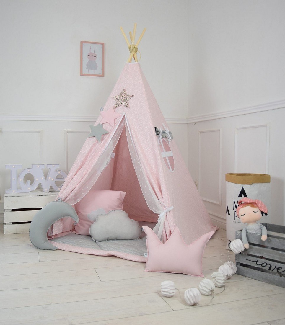 Cotton Candy Children's Teepee Tent