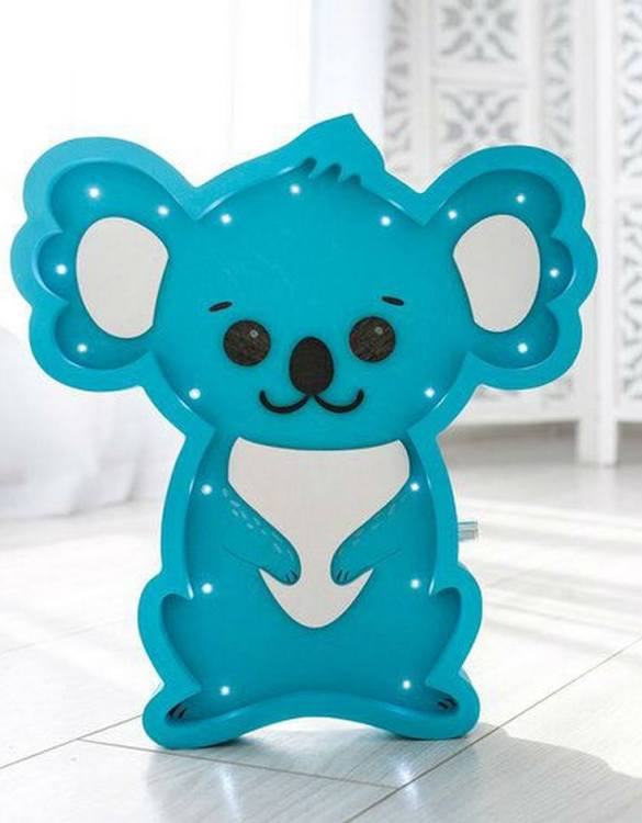 Perfect for setting a calm moon in your kid's bedroom, the Koala Decorative Night Light gives a soft glow when turned on.