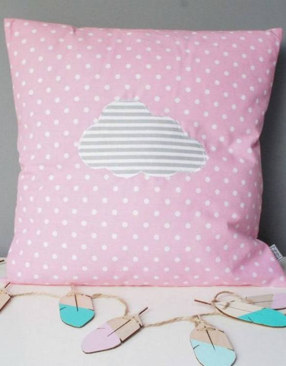 A perfect way to add a touch of magic to a bedroom or nursery, the Pink With Grey Cloud Decorative Square Pillow would make a wonderful gift for a new baby girl, christening, or naming day and would be the perfect finishing touch for a child's nursery or bedroom.