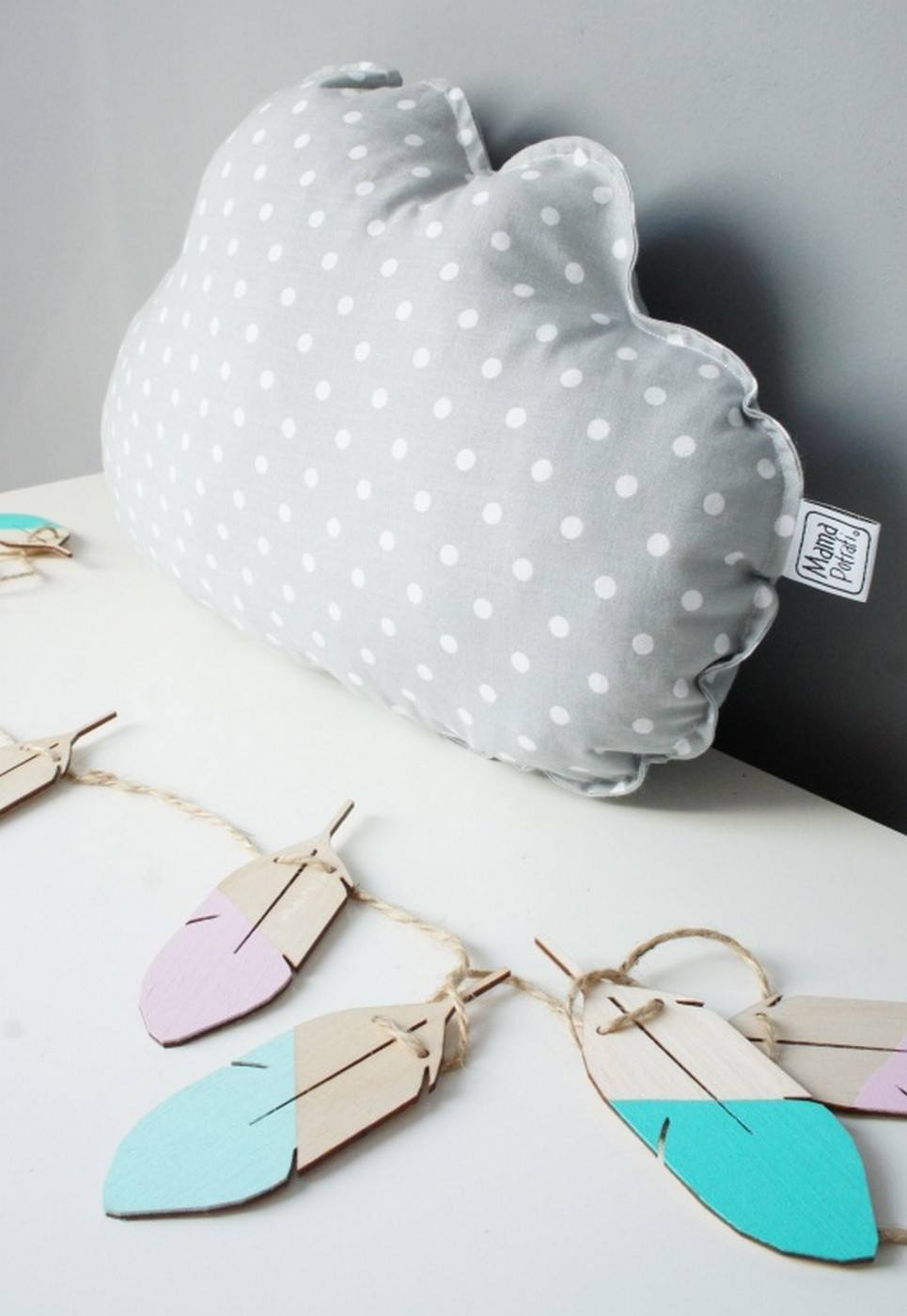Small Cloud Grey Decorative Pillow