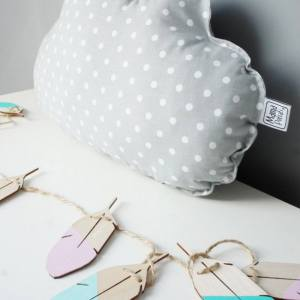 A perfect way to add a touch of magic to a bedroom or nursery, the Small Cloud Grey Decorative Pillow would make a wonderful gift for a new baby girl, christening, or naming day and would be the perfect finishing touch for a child's nursery or bedroom.