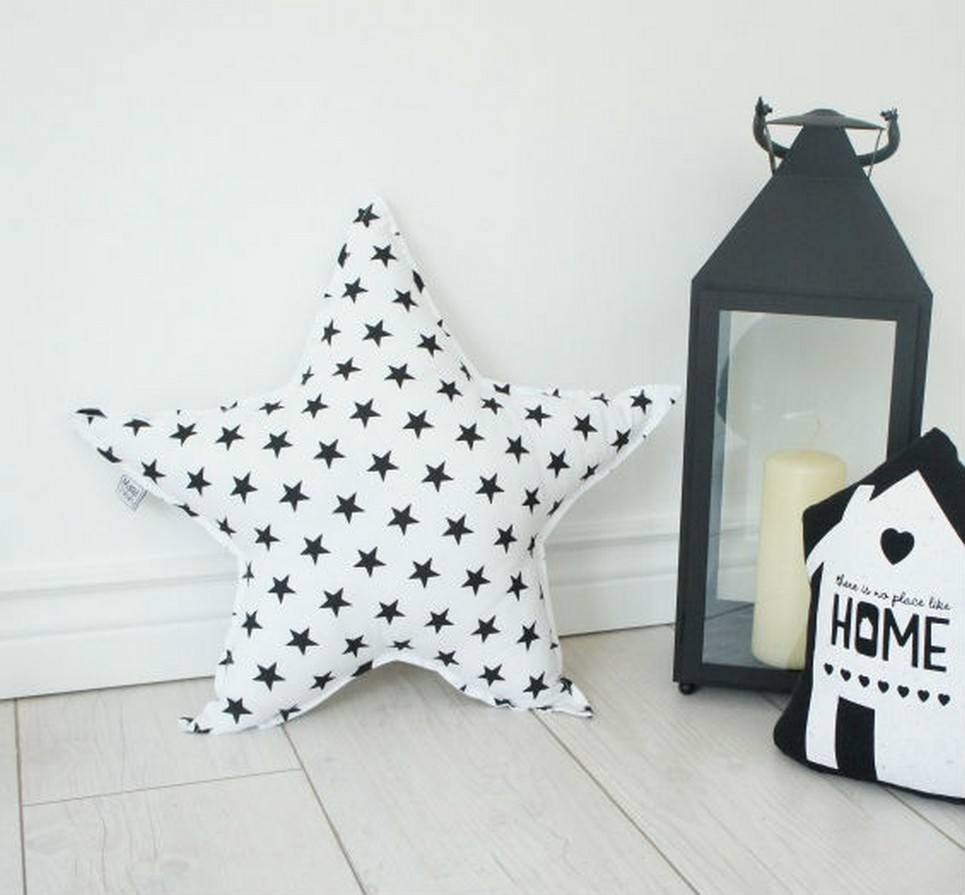 Big White Star Decorative Pillow – 2