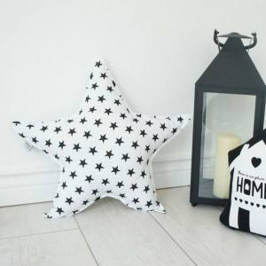 A perfect way to add a touch of magic to a bedroom or nursery, the Big White Star Decorative Pillow would make a wonderful gift for a new baby girl, christening, or naming day and would be the perfect finishing touch for a child's nursery or bedroom.