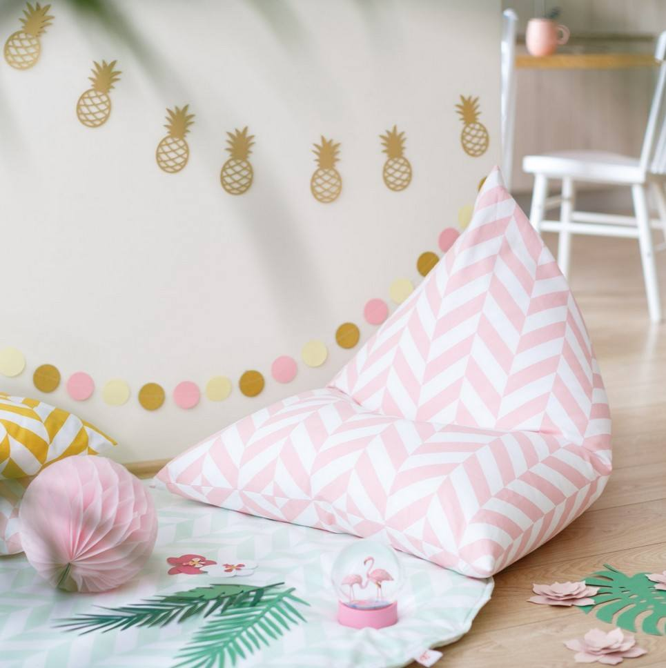 Pink Herringbone Children's Bean Bag – 2
