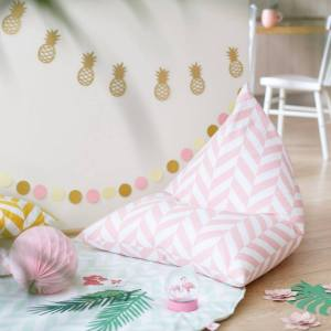 The perfect choice for toddlers and small children, the Pink Herringbone Children's Bean Bag is awesome to rest, sit on it while watching tv, gaming or reading a book!
