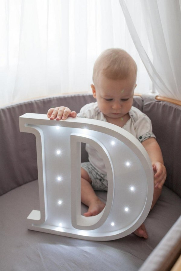 Letter D Marquee Light Sign