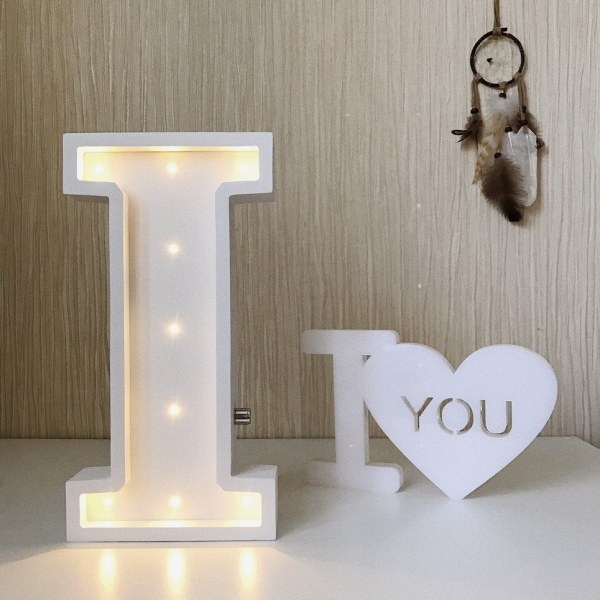 Letter I Marquee Light Sign