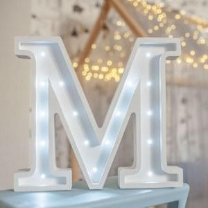 Certain to be a favourite in any family home the Letter M Marquee Light Signcreates a talking point which catches attention and expresses your passion for stand out design. Perfect for anyone who enjoys something a little different.
