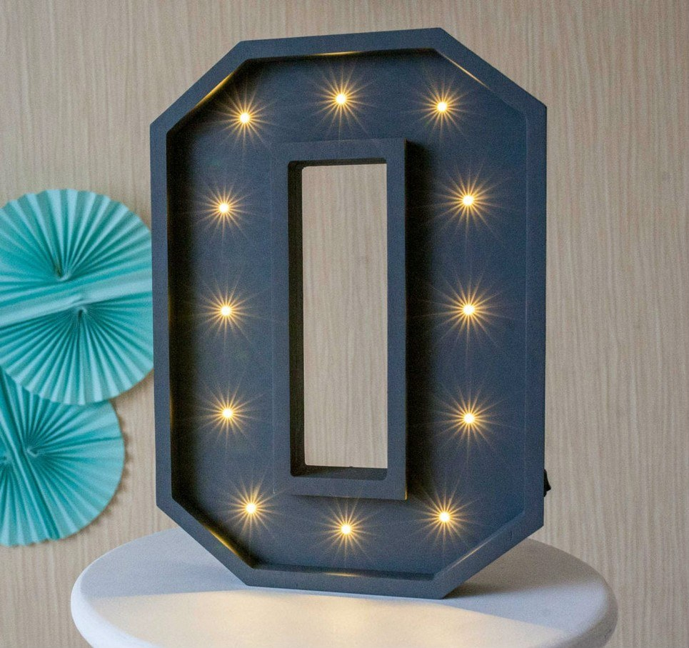 Letter O Marquee Light Sign – 2
