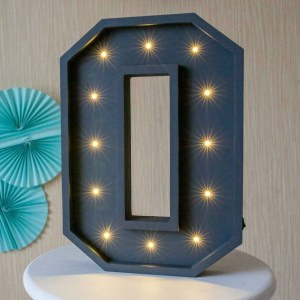 Certain to be a favourite in any family home the Letter O Marquee Light Sign creates a talking point which catches attention and expresses your passion for stand out design. Perfect for anyone who enjoys something a little different.