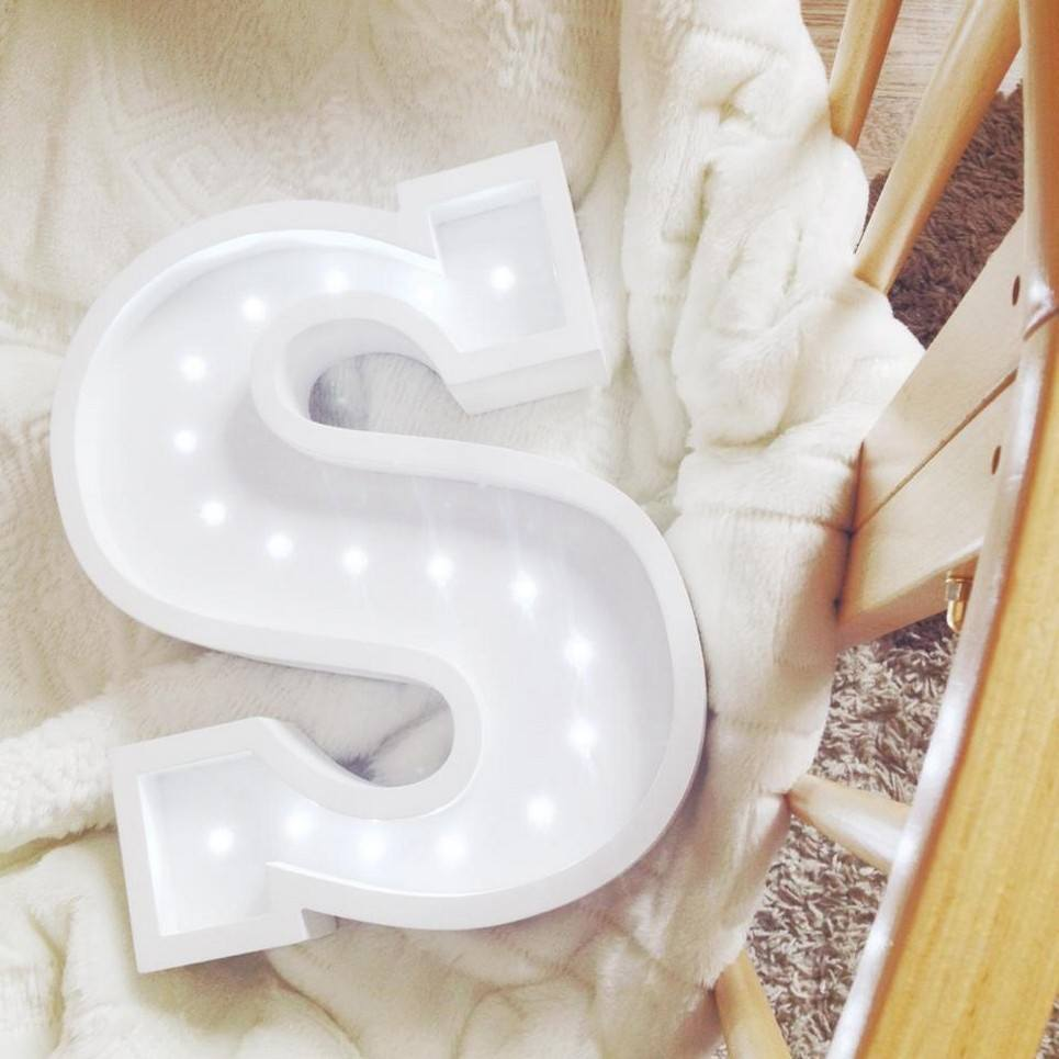 Letter S Marquee Light Sign