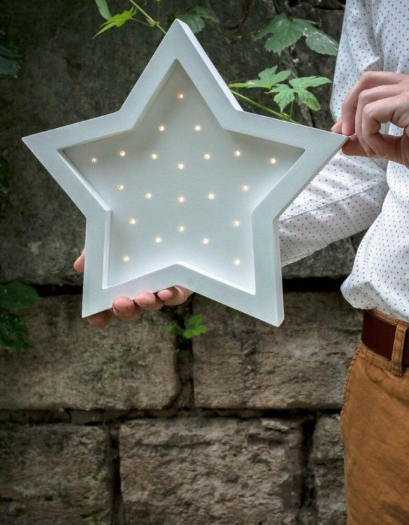 Perfect for setting a calm moon in your kid's bedroom, the Star Decorative Night Light gives a soft glow when turned on.