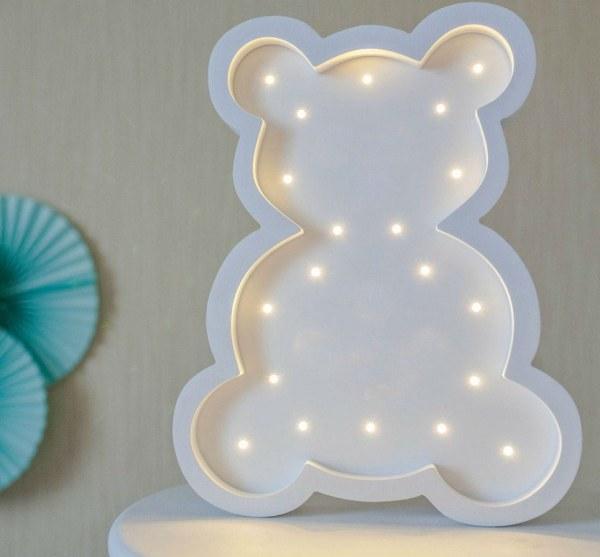 White Teddy Bear Decorative Night Light – 2