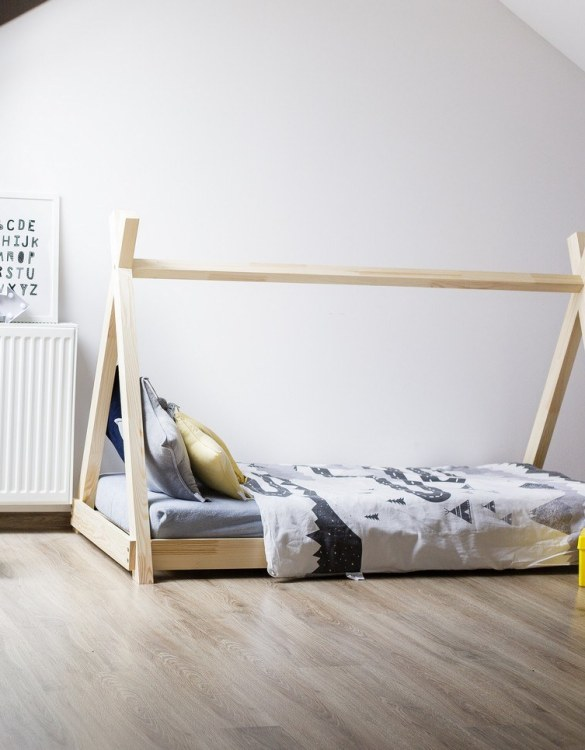 Turn bedtime into a magical adventure with this charming little bed house. The Kids Bed House Milla TP is an elegant wooden bed designed to become the focal point of your bedroom. An amazing place for children where they can sleep and play.