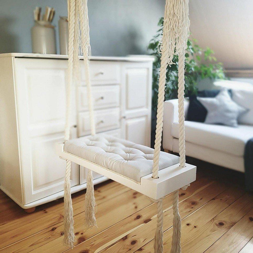 Wooden Indoor Swing Grey