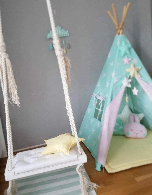Whether you want it to take you to the moon or simply be a fun place to hang out, the Wooden Indoor Swing White offers great fun for toddlers. Every child loves to play on a toddler swing. This unique toddler wooden swing is beautifully handsaw and an absolute classic. This wooden swing set would also make a lovely gift and is ideal for smaller gardens.