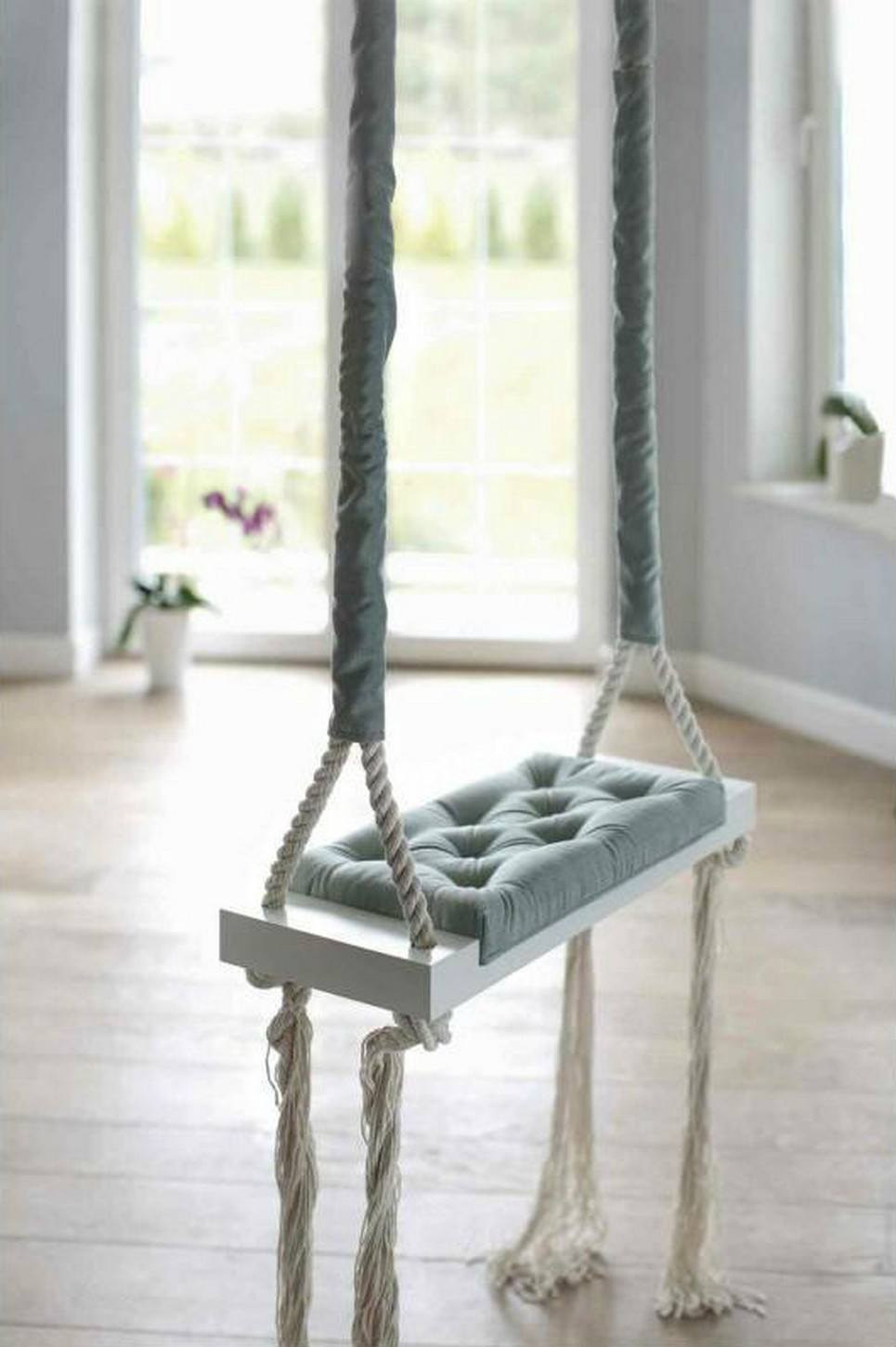 Wooden Swing Vintage Mint Velvet